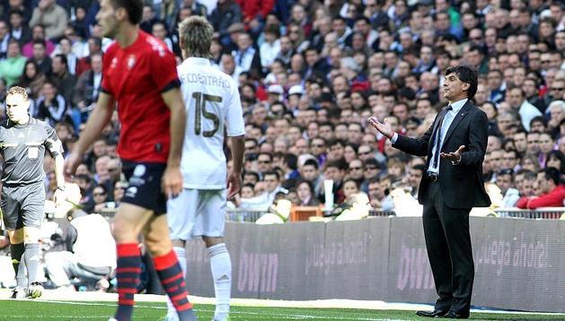 Imágen del Real Madrid-Osasuna jugado en el Santiago Bernabéu que los de Mourinho han ganado 7-1