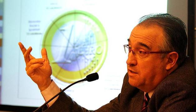 Presentación del anteproyecto de presupuestos en Pamplona