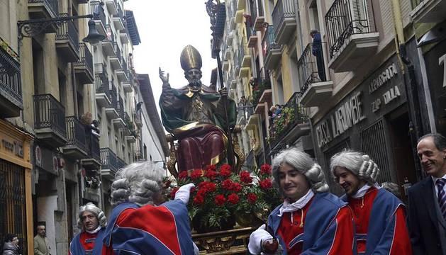 El santo ha recorrido algunas de las principales calles del Casco Antiguo de la ciudad