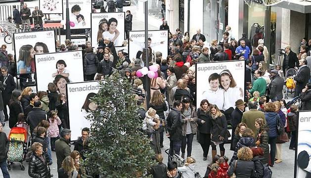 Imágenes de la inauguración de la exposición Síndrome Up, el sábado 10 de diciembre en la calle García Ximénez de Pamplona.