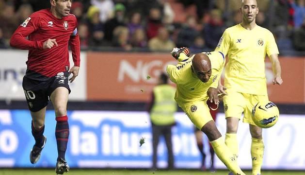 Imágenes del partido entre Osasuna y Villarreal que se ha disputado este domingo en Pamplona