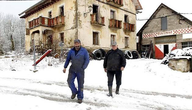 Buena parte del norte de Navarra se cubrió de nieve este sábado
