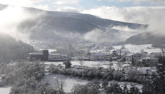 El temporal de nieve llega a Navarra