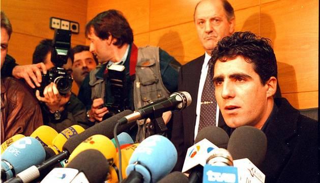 Miguel Induráin, el 2 de enero de 1997, día en el que anunció su retirada del ciclismo