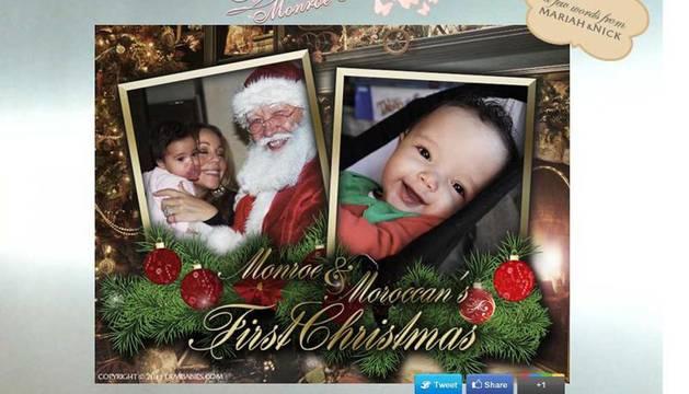 Pantallazo de la felicitación de los hijos de Mariah Carey y Nick Cannon