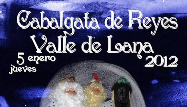 Cartel  de la cabalgata de Reyes en Valle de Lana