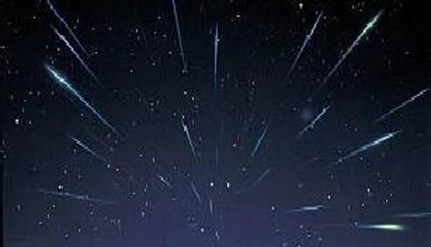 Una lluvia de estrellas