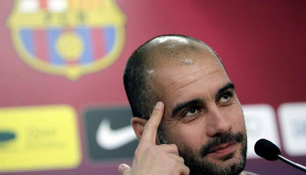 El entrenador del Barcelona, Pep Guardiola, cree que Osasuna, que visita este miércoles el Camp Nou en la ida de los octavos de final de la Copa del Rey, es el rival apropiado para que el equipo retome el pulso a la alta competición