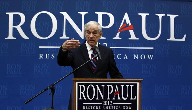El congresista Ron Paul, uno de los candidatos favoritos