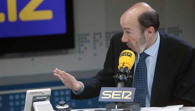 El presidente del grupo socialista en el Congreso y aspirante a secretario general del PSOE, Alfredo Pérez Rubalcaba