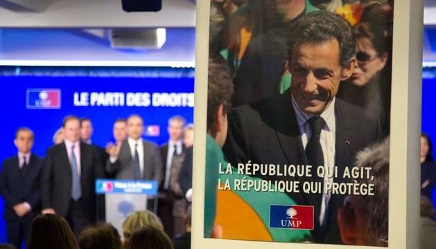 Sarkozy, en un cartel