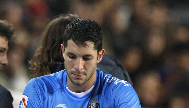 Momento en el que Cejudo salía momentáneamente lesionado del partido contra el Barcelona
