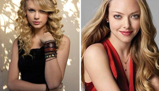 Taylor Swift, a la izquierda, junto a Amanda Syefried