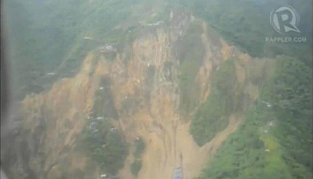Imagen del alud del Valle de Compostela, en la isla filipina de Mindanao (sur)
