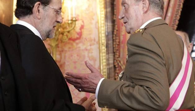 El Rey con Rajoy, en la Pascua Militar