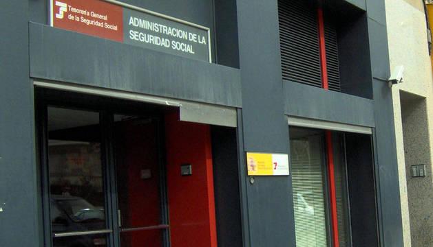 Oficina de la Tesorería General de la Seguridad Social en Pamplona.
