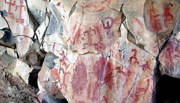 Una de las 3.000 pinturas rupestres localizadas en el estado de Guanajuato, en México