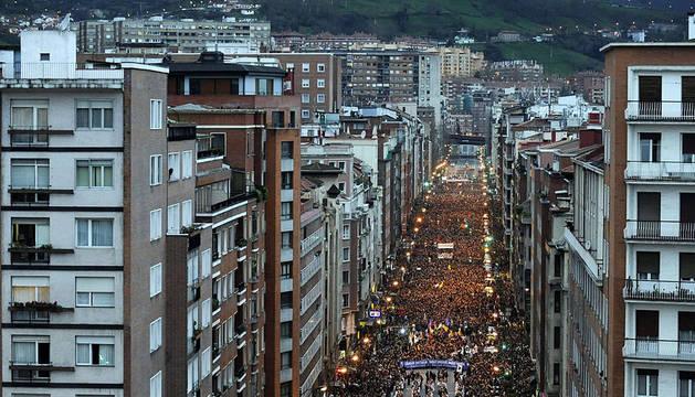 La manifestación ha discurrido por las calles de Bilbao
