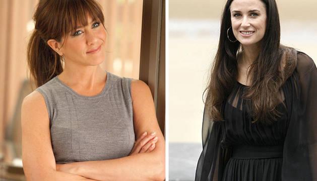 Jennifer Aniston, a la izquierda, y Demi Moore