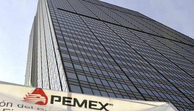 Vista de la Torre Corporativa de Petróleos Mexicanos (PEMEX), ubicada en Ciudad de México