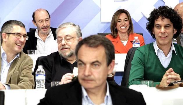 Celebración del Comité Federal del Partido Socialista Obrero Español en la sede central de la calle Ferraz de Madrid para aprobar la ponencia del 38 Congreso del partido.