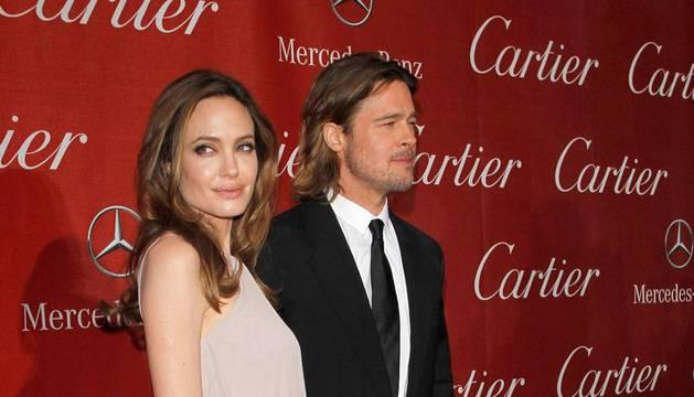 Brad Pitt junto Angelina Jolie en la 23º Edición del Festival Internacional de Cine de Palm Sping