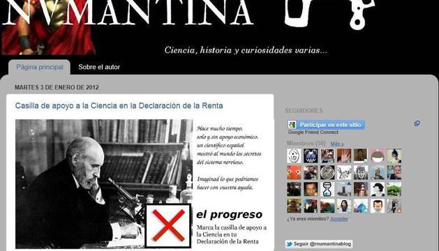 Pantallazo del blog del científico español Francisco J. Hernández