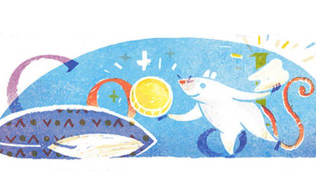 Ilustración que rinde homenaje a Luis Coloma, creador del Ratoncito Pérez