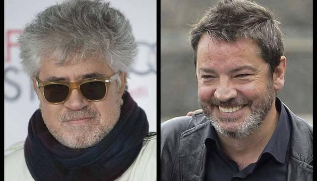 Pedro Almodóvar (izquierda) y Enrique Urbizu (derecha), los máximos nominados para los Premios Goya