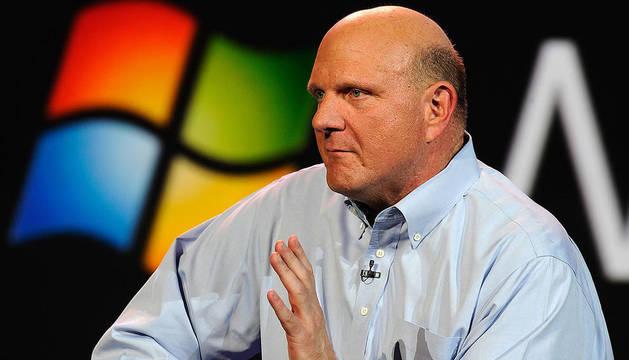 El presidente ejecutivo de Microsoft, Steve Ballmer, en la Consumer Electronics Show celebrada en Las Vegas