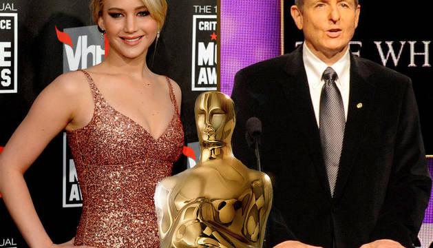 Jennifer Lawrence, a la izquierda, y Tom Sherak presentarán las nominaciones de los Oscar
