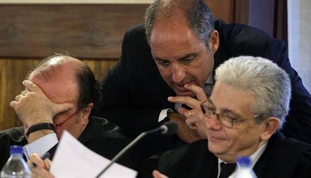 Imagen de la sesión de este miércoles del juicio a Camps y Costa