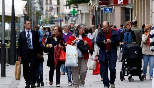 En la avenida Carlos III de Pamplona
