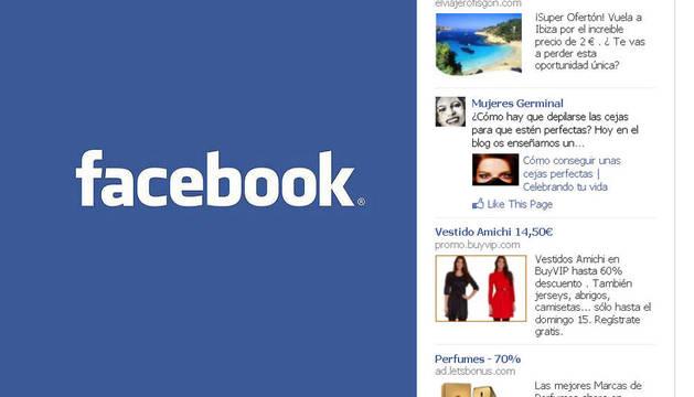Hasta ahora, la publicidad en Facebook aparecía en la columna derecha