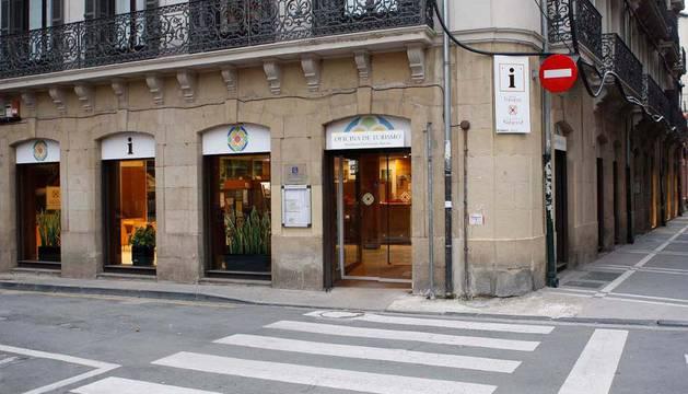 La antigua oficina de Turismo de Pamplona, ya cerrada