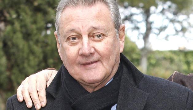El actor, Carlos Larrañaga, durante la presentación de la serie
