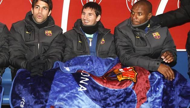 Imágenes del partido Osasuna-Barcelona correspondiente a la vuelta de octavos de final de la Copa del Rey.