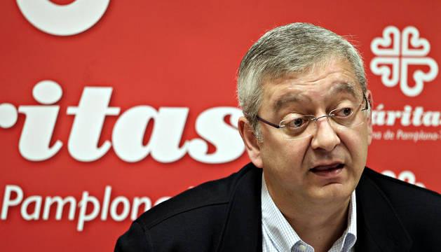 Ángel Iriarte, delegado de Cáritas en Navarra