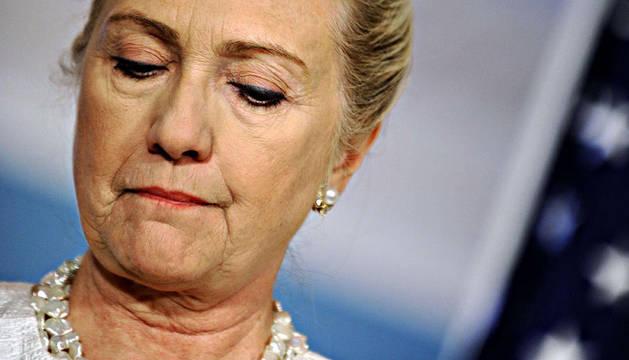 Hillary Clinton, durante la rueda de prensa en la que condenó el comportamiento de los marines