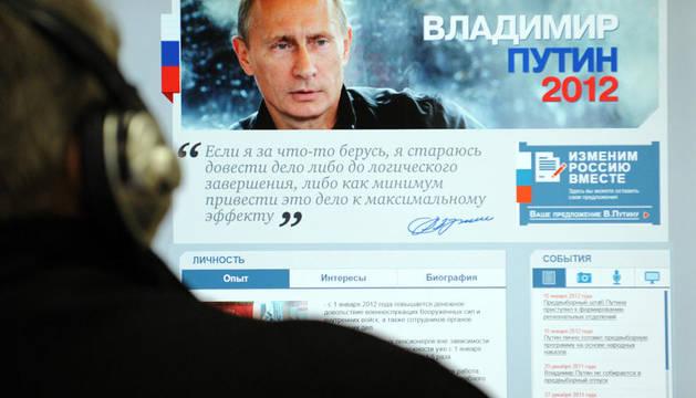 Página web de Vladimir Putin, el primer ministro ruso