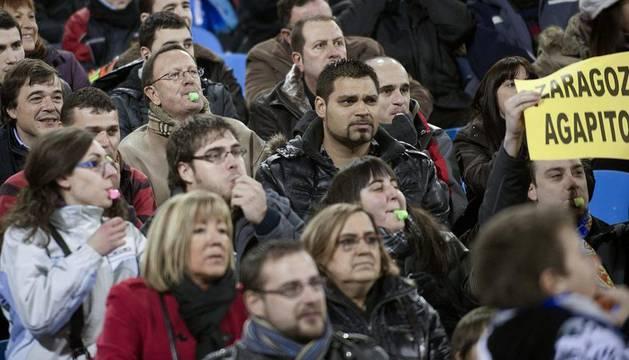 Público de La Romareda.