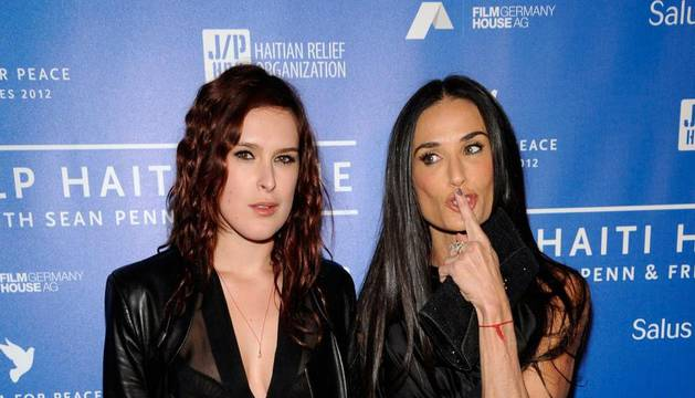 La actriz Demi Moore junto a su hija Rumer Willis