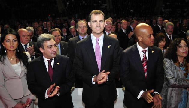 El príncipe Felipe asiste a la investidura del nuevo jefe de Estado de Guatemala, Otto Pérez Molina