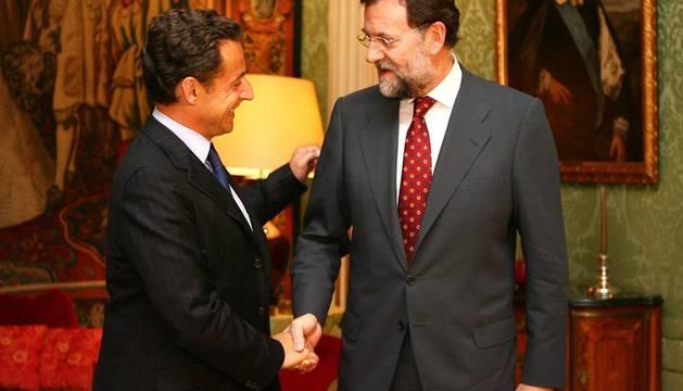 Rajoy y Sarkozy, en 2007