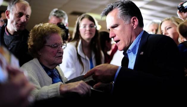 Mitt Romney, en un mitin