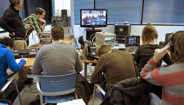 Los periodistas siguen el juicio por el crimen de Tudela