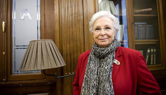 La directora Josefina Molina, una de las mujeres pioneras en el cine español, durante la entrevista