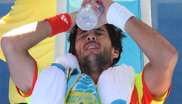 Fernando Verdasco durante la primera ronda el partido contra el australiano Bernard Tomic