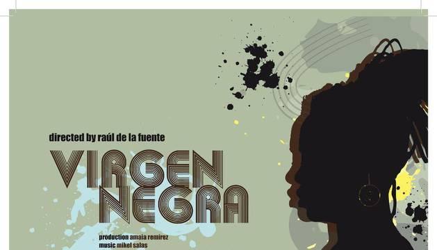 Cartel del cortometraje documental 'Virgen Negra', del director navarro Raúl de la Fuente