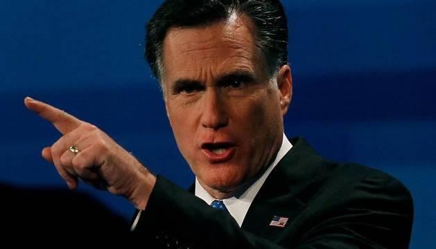 El candidato republicano a la presidencia, Mitt Romney, durante el debate de Fox News